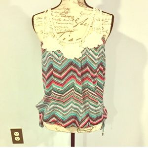 NWOT Tank Top With Lace Top!